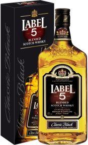 Finest Blended Scotch Whisky Label 5, gift box