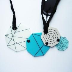 Gendört Mavi Bej Kolye - #tasarim #tarz #mavi #rengi #moda #hediye #ozel #nishmoda #blue #colored #design #designer #fashion #trend #gift