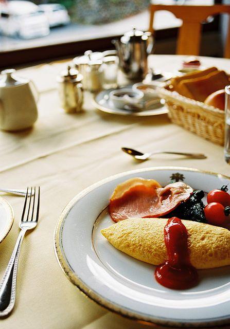 ホテルのご朝食(オムレツ)#Omelette