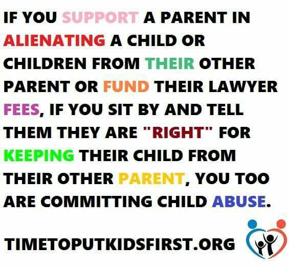 bad parenting or child abuse Should children be allowed to choose one parent over the other not if they are being abused including bad-mouthing the other parent as i am going to law school, is that the courts are actually helping the alienating parent get away with this child abuse.