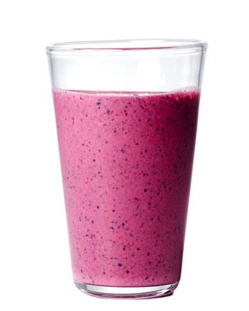 BLUEBERRY-FLAX SMOOTHIE ● 1 ripe banana; ● 1 cup frozen blueberries; ● 1 cup low-fat plain yogurt; ● 4 teaspoons flaxseeds; ● 1 tablespoon honey. Combine all ingredients in a blender, and blend until smooth. Yields 2. http://www.wholeliving.com/136305/25-quick-and-easy-smoothie-recipes/@Virginia Stokes/136747/whole-living-action-plan-28-day-challenge#/40620