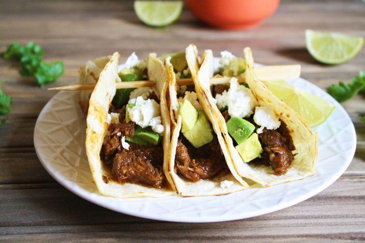 Slow Cooker Beer-Braised Beef Tacos (Hamilton Beach Slow Cooker giveaway!)