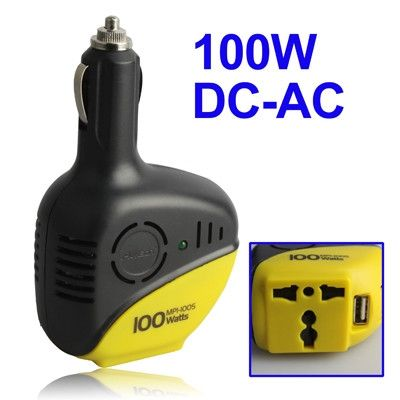 100W DC 12V to AC 110V / 220V Power Inverter, Support USB Ports #weeklydeals #chargers #inverters