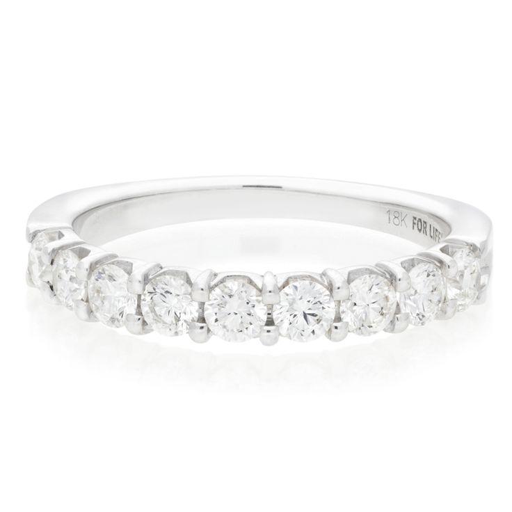 18K White Gold Half Eternity Diamond Ring For Sale by Uwe Koetter.    www.uwekoetter.com