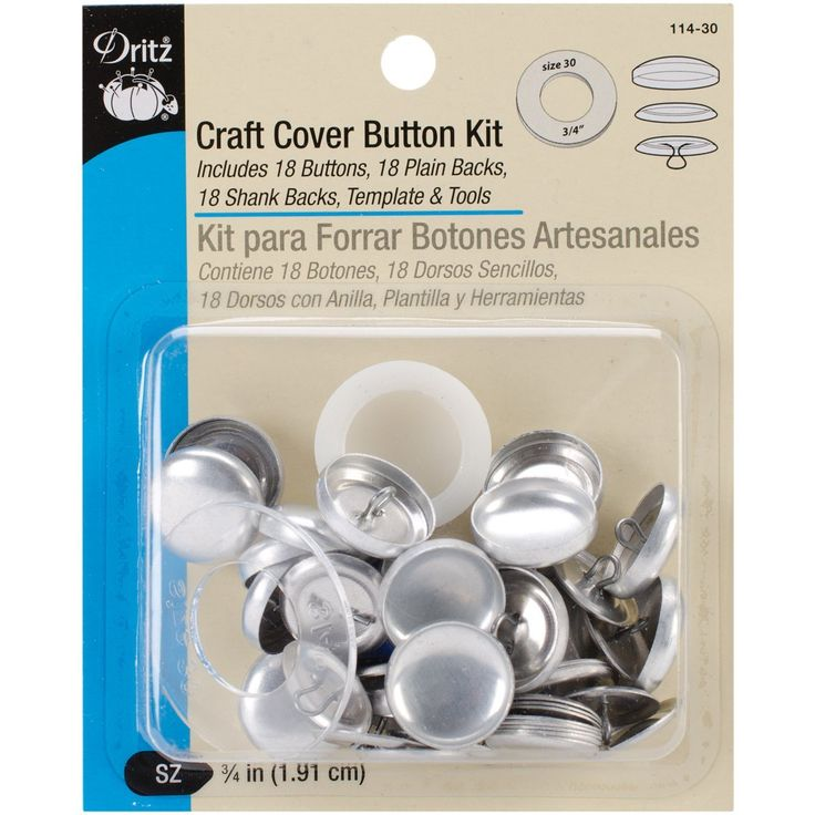 Amazon Com Dritz Craft Cover Button Kit Size 30 Crafts Discount Fabric Kit