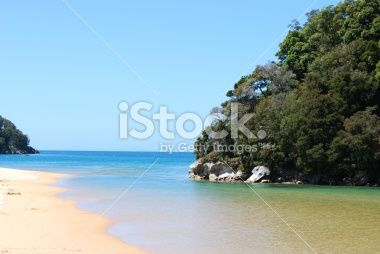 Beach Background, Kaiteriteri, New Zealand Royalty Free Stock Photo