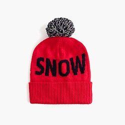 Kids' snowstorm beanie