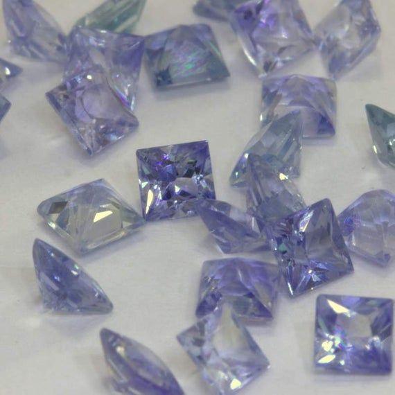 One Light Blue Ceylon Sapphire 2 5 Mm Faceted Princess Square Average 12 Carat V 2020 G