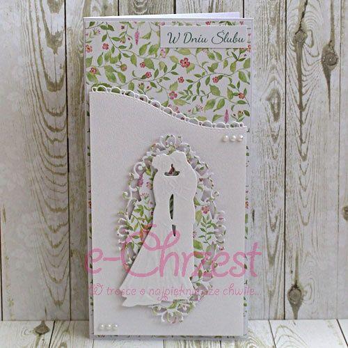 Ręcznie wykonane karty na ślub karta_075