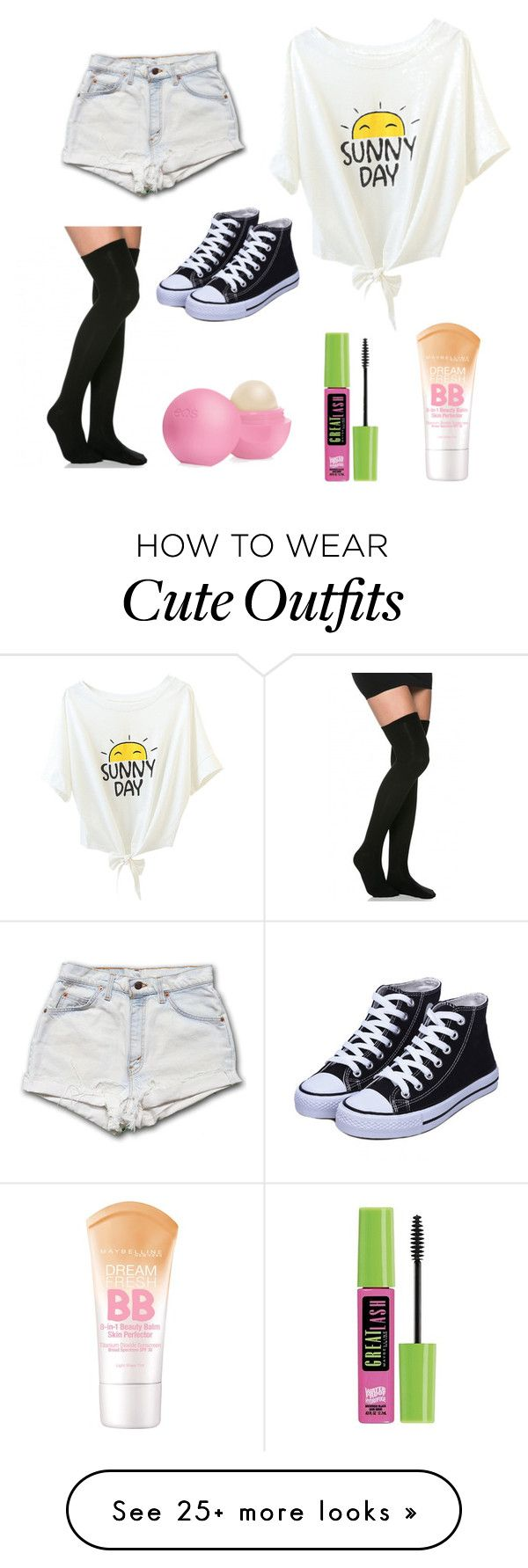 """""""Cute simple outfit"""" by lilypop925 on Polyvore featuring Maybelline and Eos"""