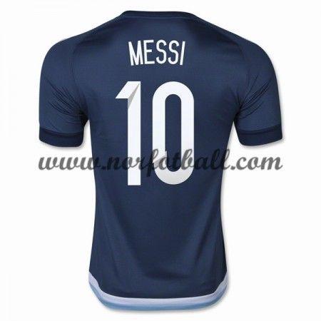 Argentina 2016 Landslagsdrakt Lionel Messi 10 Kortermet Borte Fotballdrakter