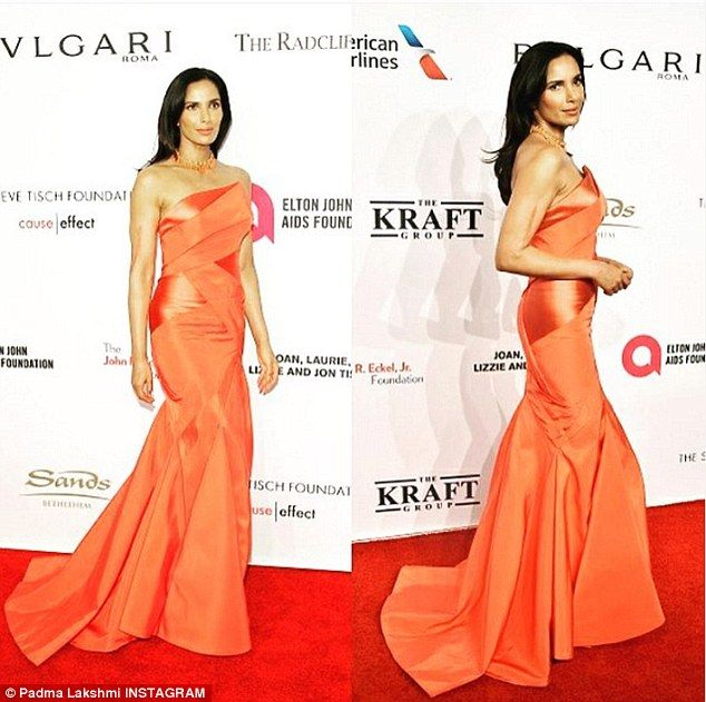 Goddess:The raven haired beauty took to Instagram to share a picture of her gorgeous gown, as well as tell her followers that she had a wardrobe malfunction
