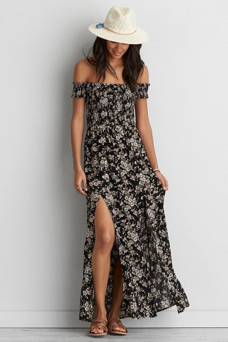 American Eagle Outfitters AE Smocked Bodice Maxi Dress
