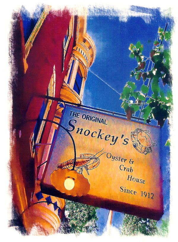 The Original Snockey's Oyster & Crab House Since 1912...Clammy Hour!!!!