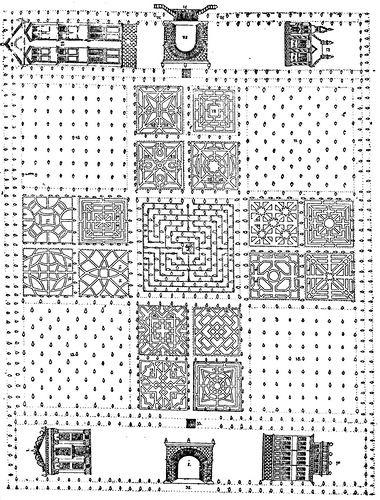 Рисунок 71. Круглый огород (чертёж XVII века).