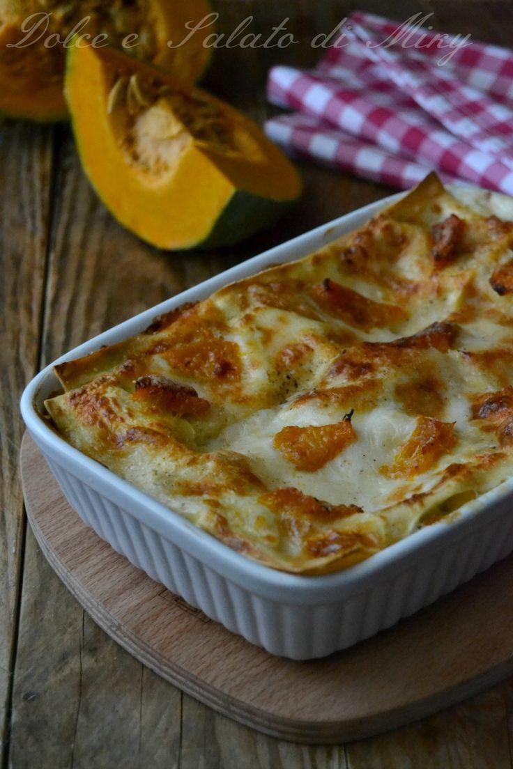 ricetta Lasagne con zucca e gorgonzola| Dolce e Salato di Miky