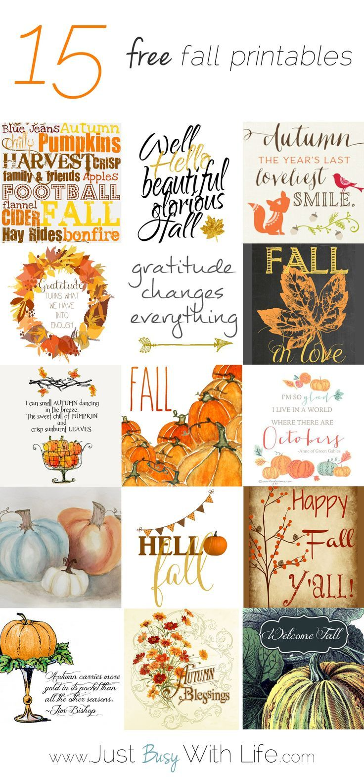 15 Free Fall Printables | Just Busy With Life