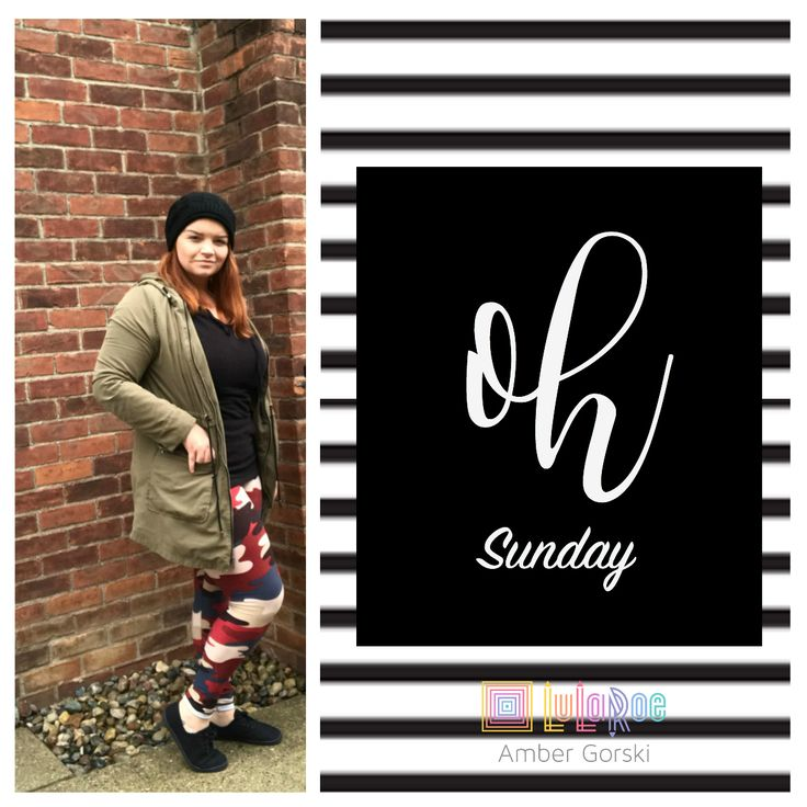 oh Sunday! Rocking my LuLaRoe Camo Leggings on a rainy day in MI. come join us in our VIP group on FB: LuLaRoe Amber Gorski