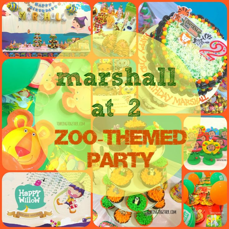 Zoo-themed party! (Marshall @ 2) – tobringtogether
