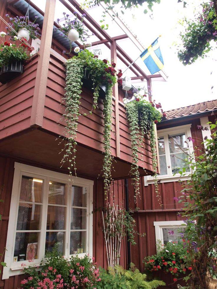 Een van de geheime tuinen in Eksjö.