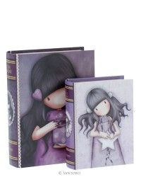 Set of 2 Book Boxes - We Can All Shine, All These Words, Santoro's Gorjuss
