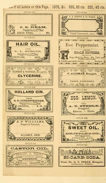 Vintage Labels.