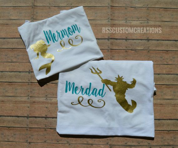 Merdad Shirt Father of a Mermaid Father of by RSSCustomCreations