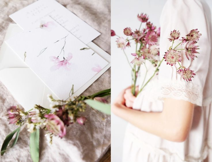 Delicate wedding invitations, Botanical stationery from Love Prints