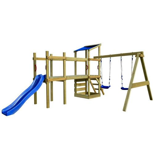 Childrens Wooden Climbing Frame Outdoor Toy Kids Play Centre Lawn PlayhouseSet   #Unbranded