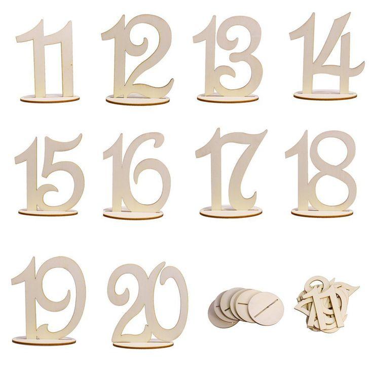 10 unids/set estilo Caliente De Madera suministros de la boda Place holder tarjeta de número de la tabla 11-20 figura digital Decoración asiento(China (Mainland))