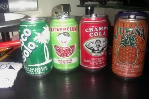 These sodas are always at Haitian parties!(I've never seen the first one before)
