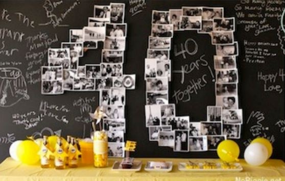 Create numbers with memorable photographs... would be great for birthdays or anniversaries, etc.!