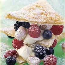 Macadamia and Mixed Berry Mille Feuilles