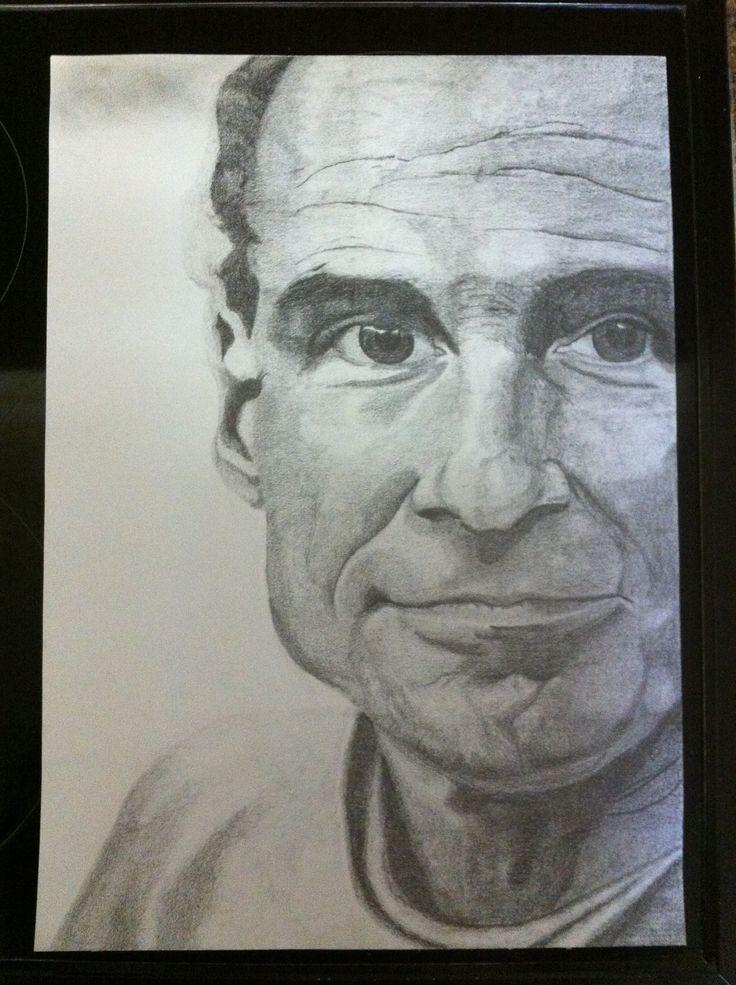 James Taylor (2) - Pencil Drawing - L van Rooyen