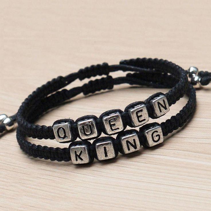 Couples Bracelets set King and Queen Bracelet Handmade Lovers Bracelets