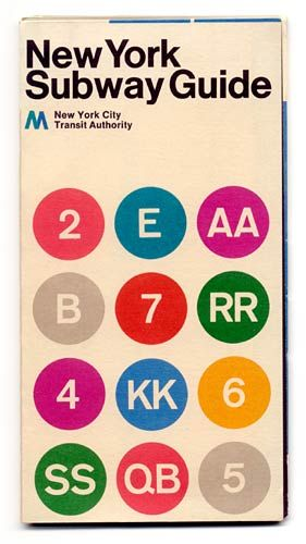 New York subway map by Massimo Vignelli (1972).