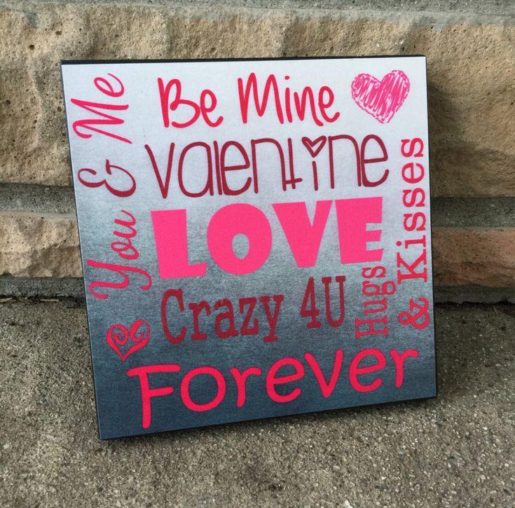 Valentine's Day Gift, Valentine's Day Wood Sign, Word Art Sign, Gift For Her, Couples Gift by LoveSmallTownUSALLC on Etsy https://www.etsy.com/listing/262078450/valentines-day-gift-valentines-day-wood
