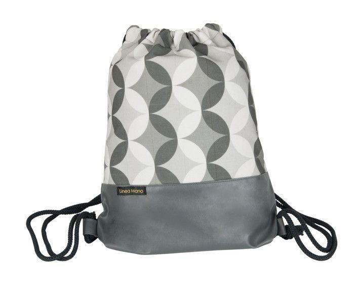 Turnbeutel - Turnbeutel Festival Bag Rucksack grau - ein Designerstück von Linea-Mano bei DaWanda