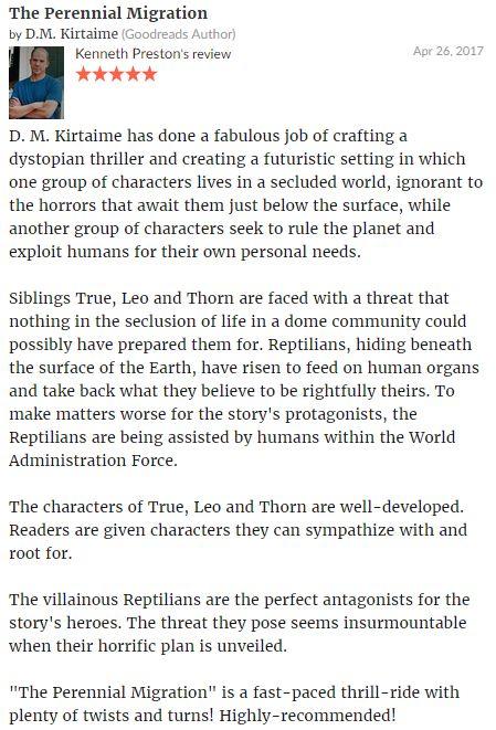#review #kennethpreston #kirtaime #reptoid #reptilian #scifi #kindle #mars #theperennialmigration