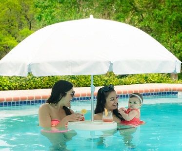 floating pool chairs with cup holders kohls patio 2 best 25+ umbrellas ideas on pinterest | umbrella for patio, garden lighting and ...