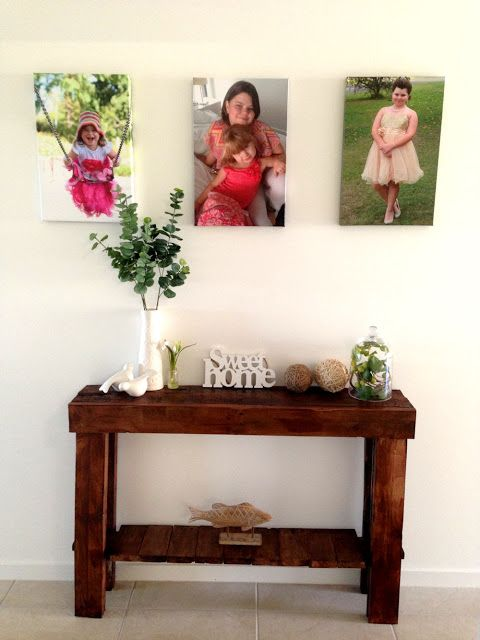 My awesome pallet project a hall entry table original ideas with pallets pinterest - Decoracion hogar original ...