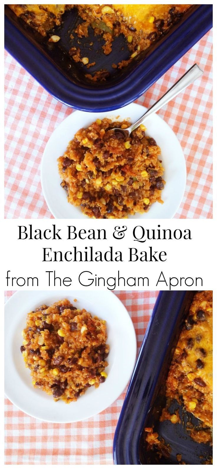 Black Bean & Quinoa Enchilada Bake- hearty, healthy, and so delicious!