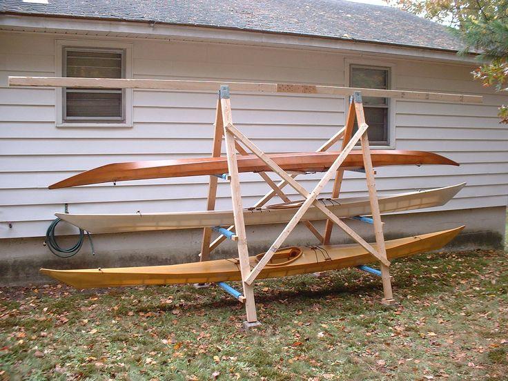 31 best images about kayak storage on pinterest storage for Boat storage shed plans