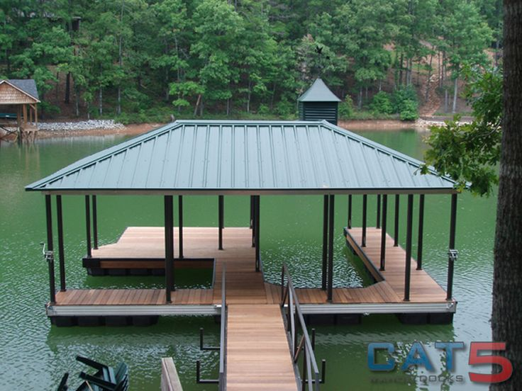 lake house deck designs | Boat Dock Designs Building Plans – House Plans