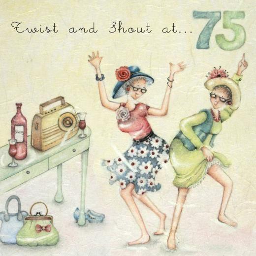 Twist And Shout at 75 - Berni Parker - Daisy Chain Gift Company - cartões, presentes & Embalagem Bespoke