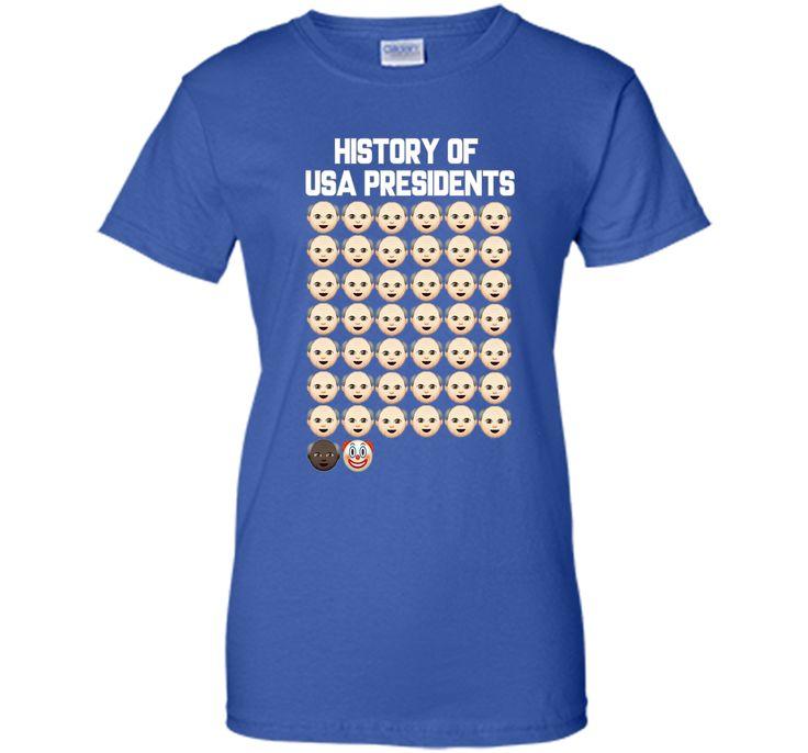 Funny History of USA Presidents Anti Trump Tshirt