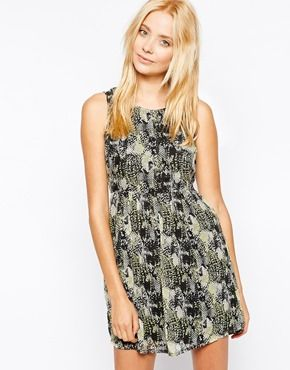 Vero Moda Sien Dress In Snake Print