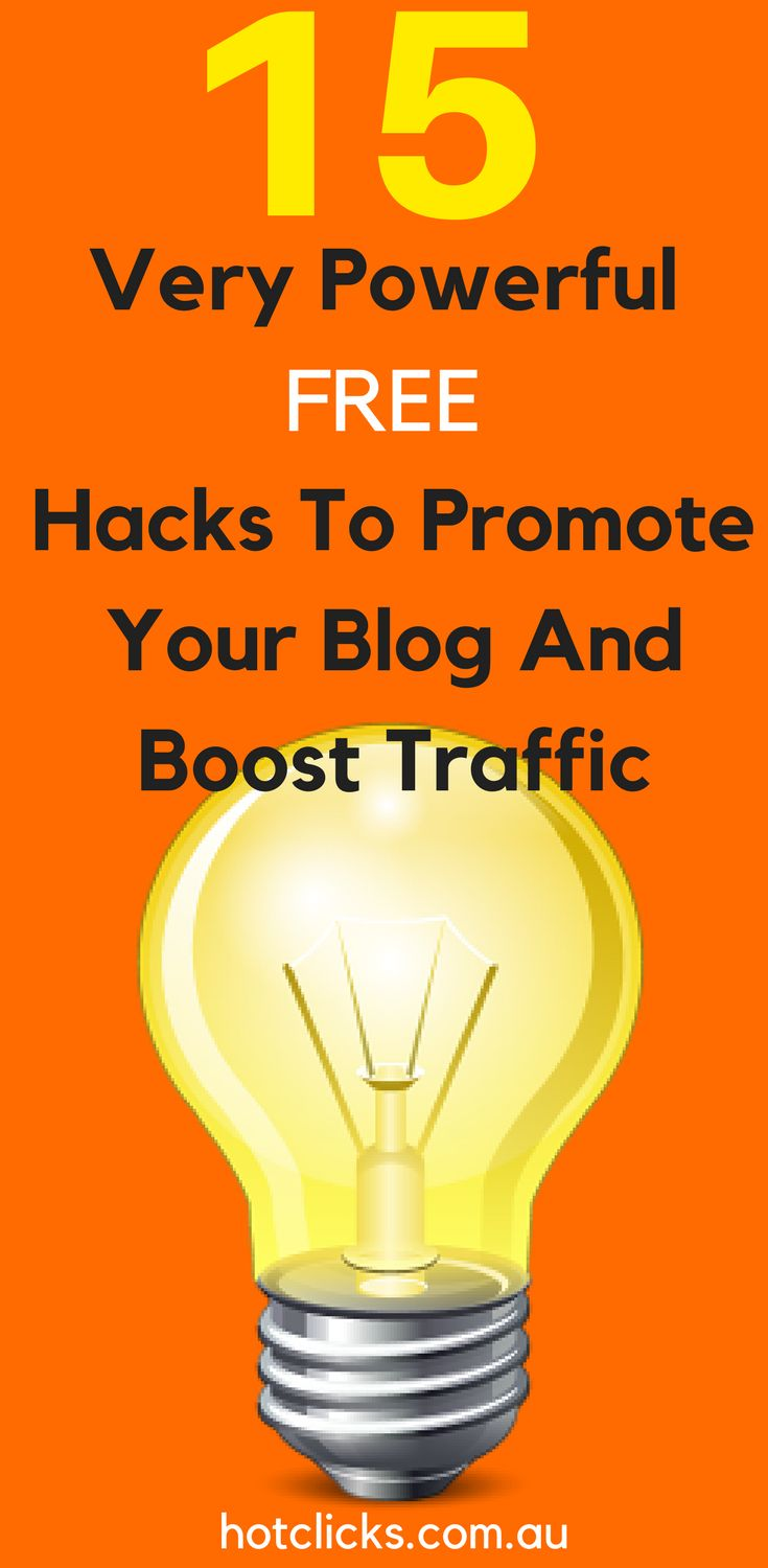 15 Powerful Free Hacks To Promote Your Blog And Boost Traffic Many people, start blogs with lofty dreams — to build an #audience, leave their day job, land a book deal, or simply to share their genius with the rest of the world. Getting started is relatively easy, since all it takes to maintain a blog is a little time and some good old-fashioned inspiration. So why do #blogs have a higher #failure #rate than even restaurants?