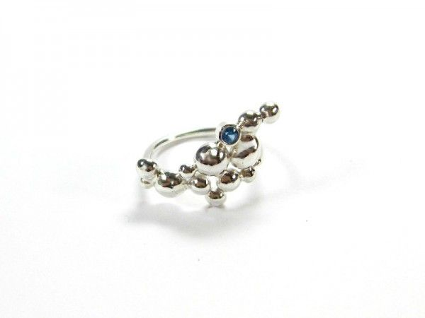 Ring. Sterling silver, CZ. Size 6
