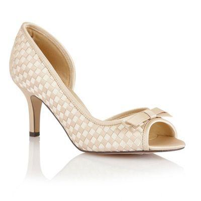 Lotus Beige ivory satin 'Bernice' peep toe shoes- at Debenhams.com